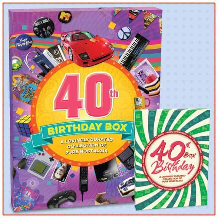 Retro 40th Birthday Box - Gifts Online