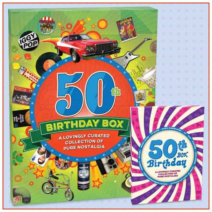 Retro 50th Birthday Box - Gifts Online