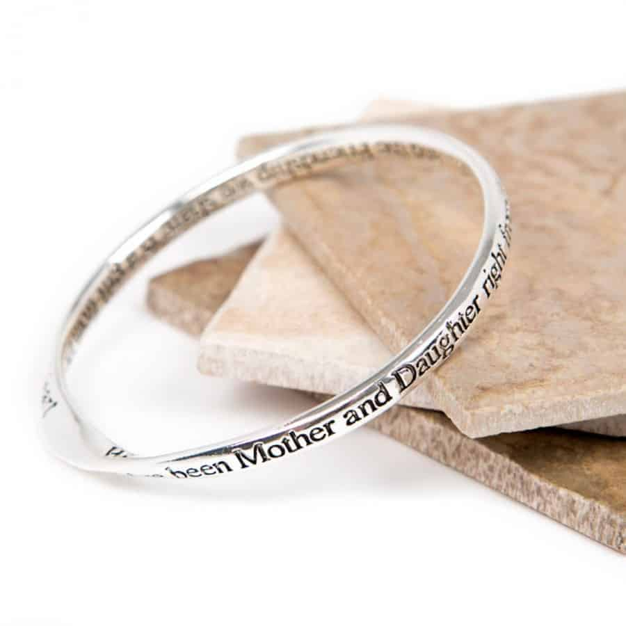 gifts online uk lovethelinks message bangle mother and daughter