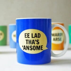 Dialectable EE Lad Tha's 'Ansome Mug